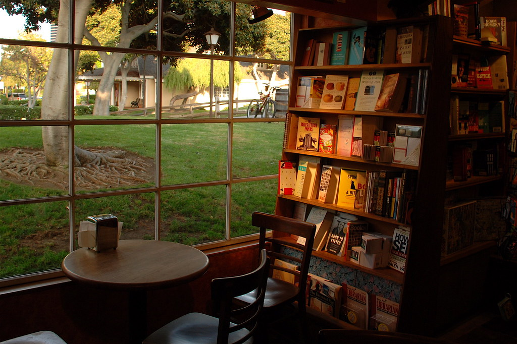 Coffee and books  This cozy little nook at one of my