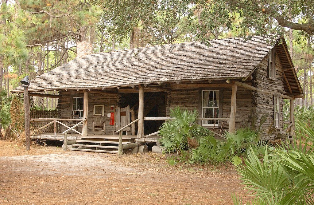 How an old log cabin relates to railroads  Besides the