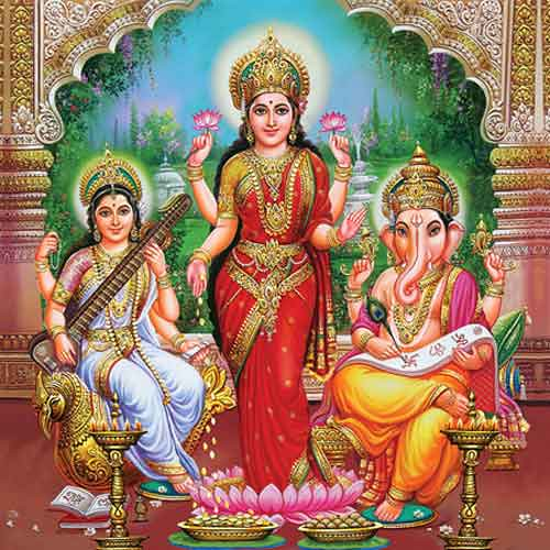 God Laxmi 3d Wallpaper Sri Ganesh Lakshmi Maa Saraswati Maa Check Out My