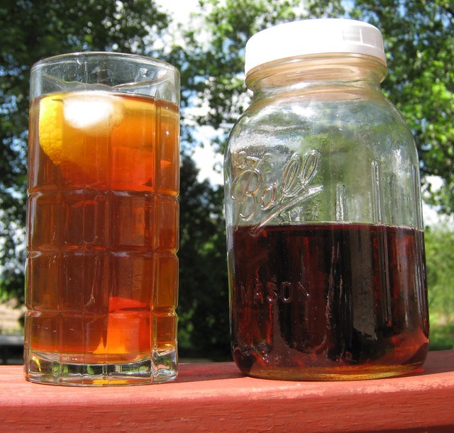 Sun tea brewed in Mason jar  I love brewing up sun tea all   Flickr