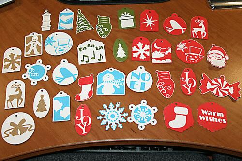 Christmas Tags  Made with the Cricut Christmas Tags