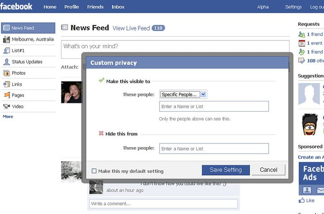 how to change privacy settings on facebook for photos