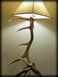 3 elk antler floor lamp - 1 | I build these lamps part ...