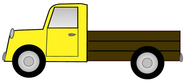 yellow truck sketch clipart lge