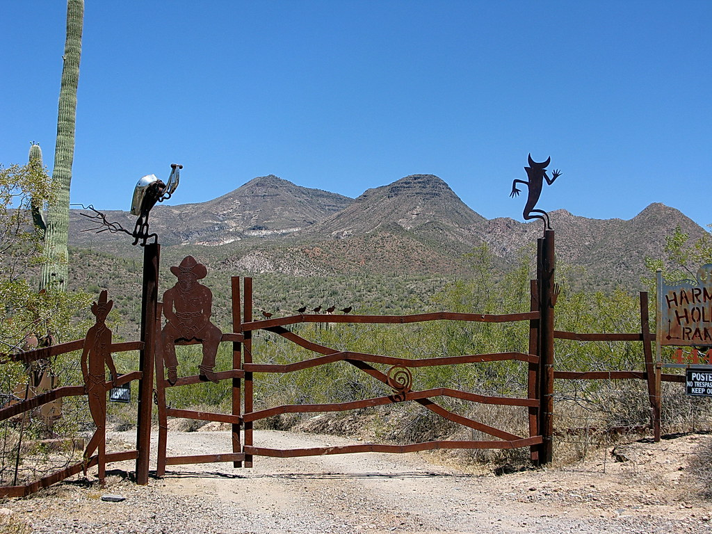 Harmony Hollow Ranch  whimsical fence  Cave Creek  Flickr
