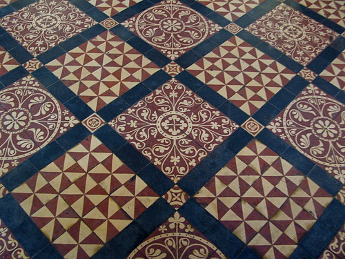 Floor Tiles St Albans Cathedral  Ornate floor tiles in