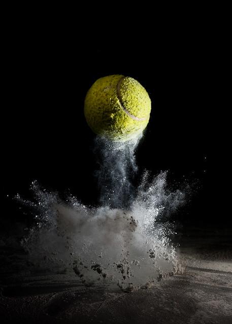 Tennis Ball Dust Bounce