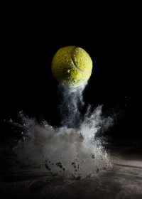 Tennis Ball Dust Bounce