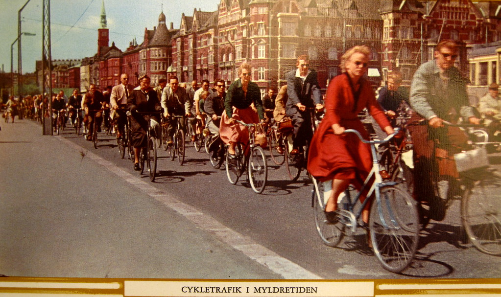 Bicycle Rush Hour Copenhagen  1950s  Bicycle Traffic in Co  Flickr