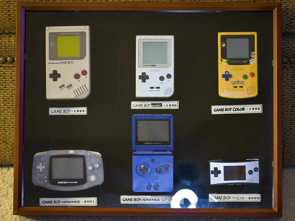 Gameboy Collection  In a 3 inch deep shadowbox Just a