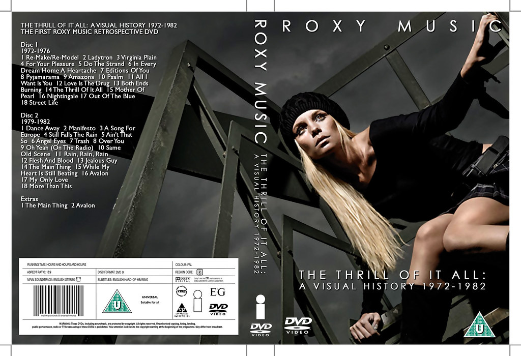 Roxy MusicThe Thrill Of It All A Visual HIstory DVD cove  Flickr