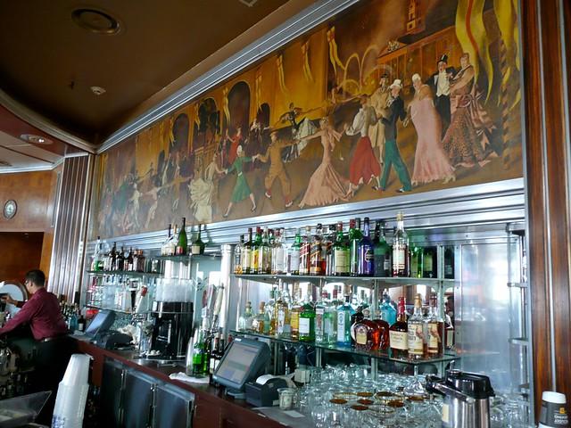 Queen Marys 1934 ArtDeco Bar Mural w Dancing Flapper Gi  Flickr