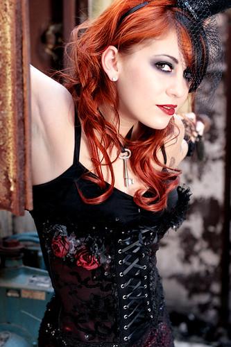 Anime Girl Corset Wallpaper Dark Fusion Red Hair Amp Warmer Tones By Ken Barton