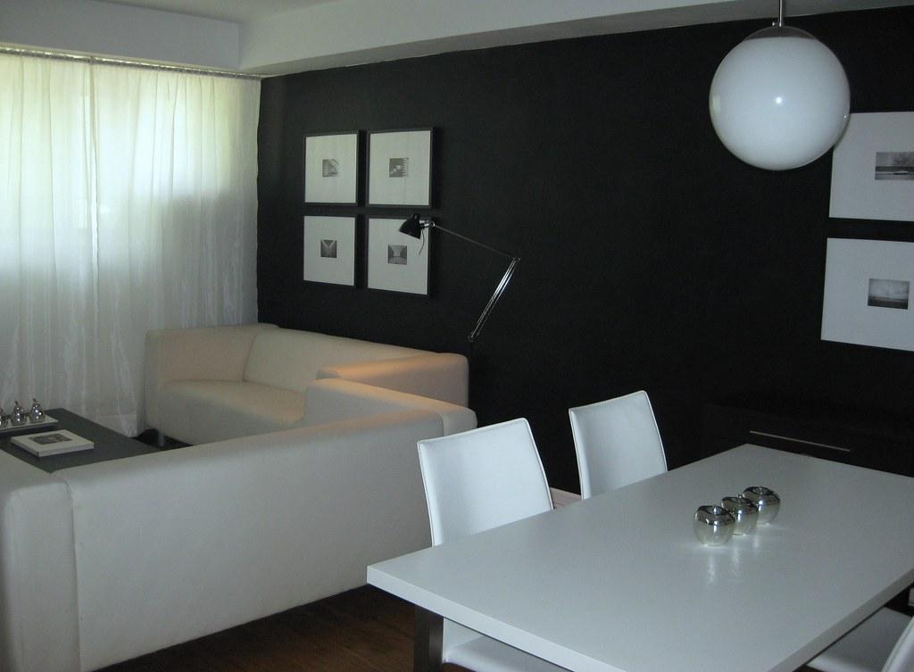 Sala comedor en blanco y negro  reygalapagos  Flickr