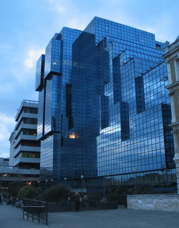 Blue Glass Building - Thames Embankment Feb 2004