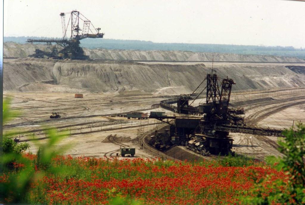 Schaufelradbagger Braunkohle Tagebau  Open Cast Lignite