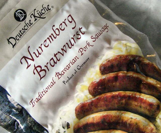 deutsche kche nuremberg bratwurst ALDI  daves cupboard