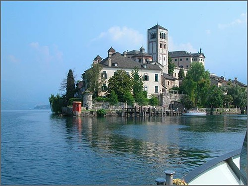 Lake Orta Boat Service  St Julius Island is a silent an
