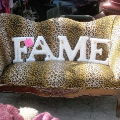 Animal Print Sofas One Seat Sofa With Chaise Purrrr Vintage Chic Leopard And Industrial Met