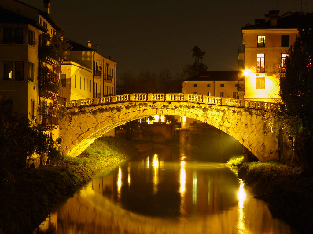 Vicenza Italy Ponte San Michele night  Albert  Flickr