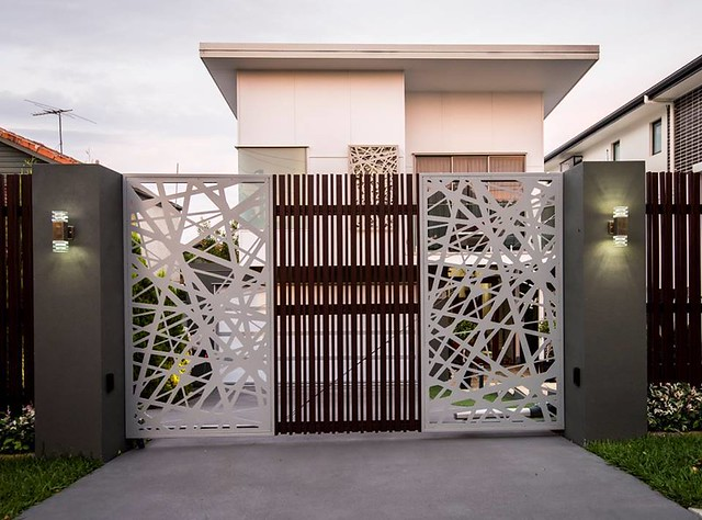 stunning modern gate design ideas 6
