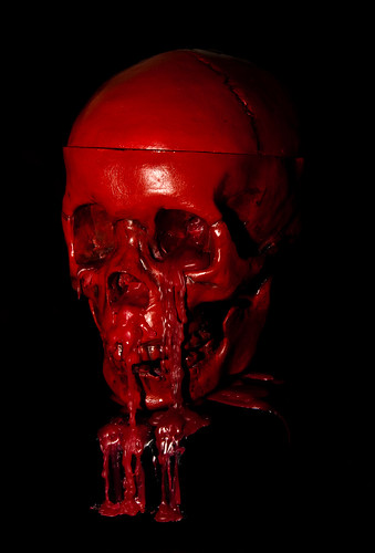 Scary 3d Wallpaper Blood Skull Blood Skull Cast Candle From Real Human
