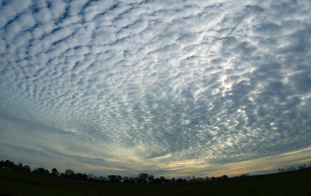 Cirrocumulus Clouds  A pano I took yesterday of the beautif  Flickr