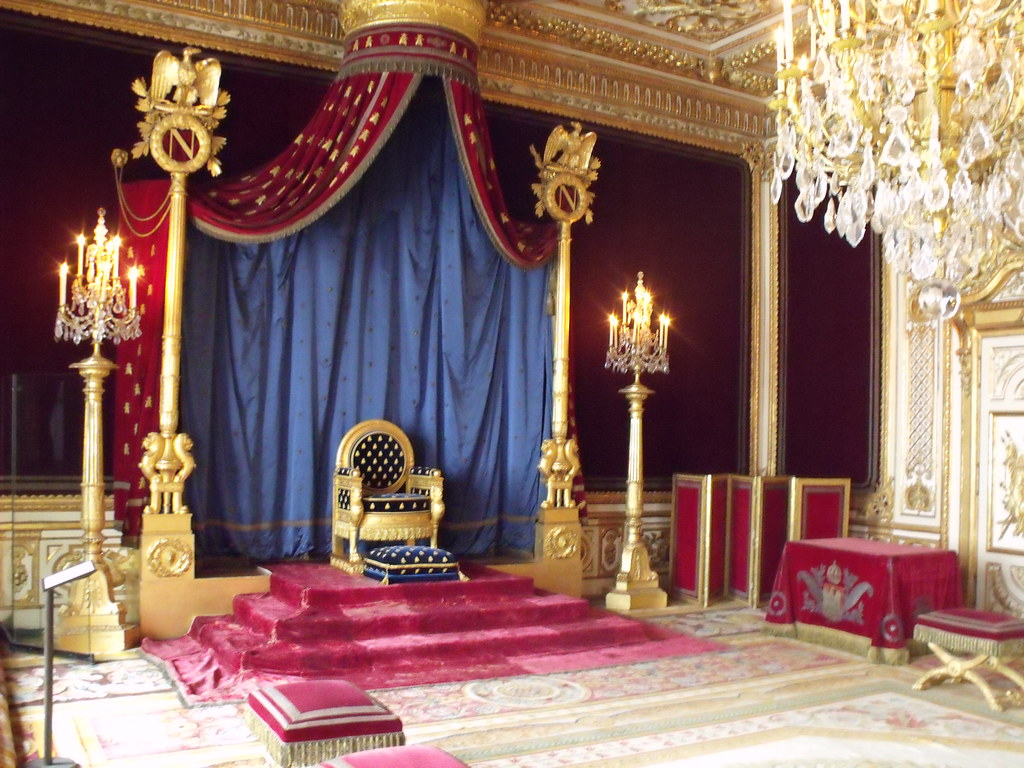 Throne room  Fontainebleau  inside the Chateau