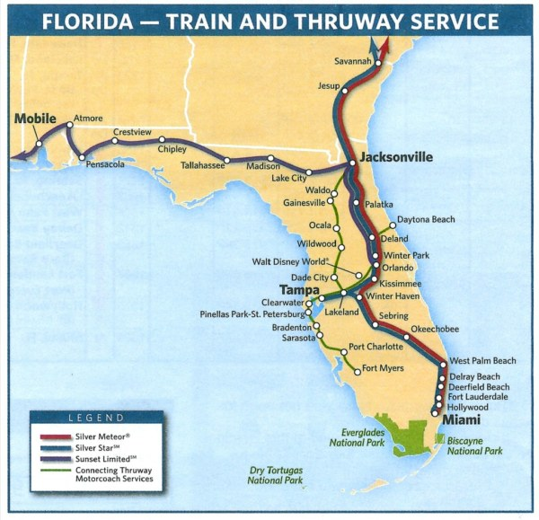 Map Of Amtrak Stations In Florida Florida Map 2018