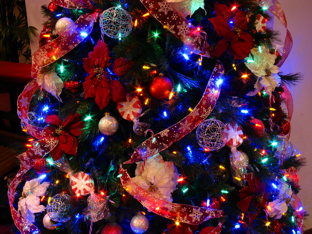 Close Up Of The Candy Cane Christmas Tree (Multicolor LED