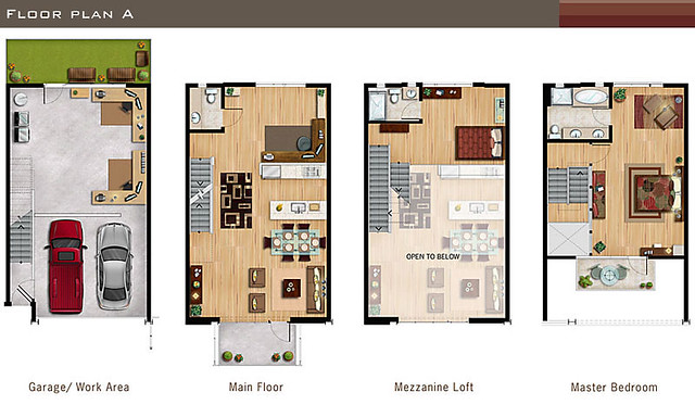 Loft Layout Sans Most Of The Furniture Which Is Merely