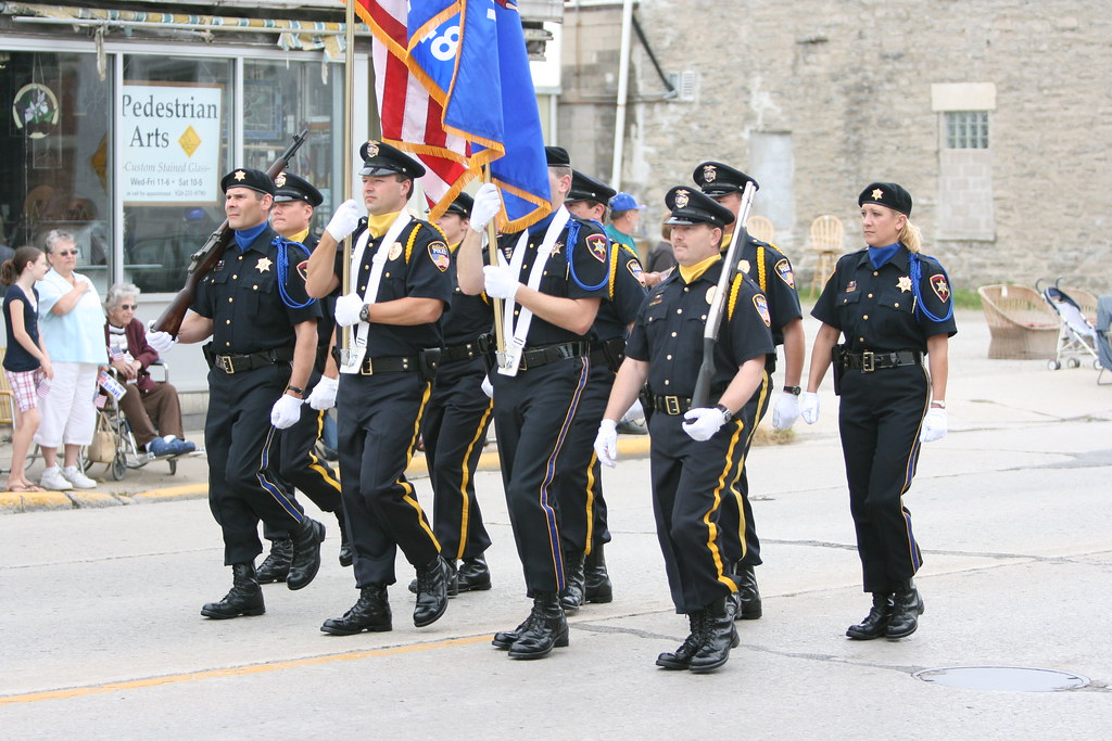 Color Guard  Combination of Oshkosh Police Department and