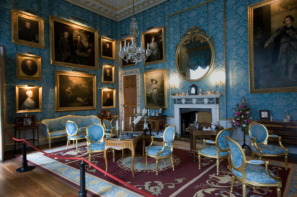 The turquoise drawing room Castle Howard still used by t  Flickr