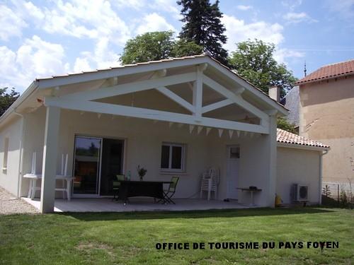 Faade Maison Avec Terrasse Couverte Location