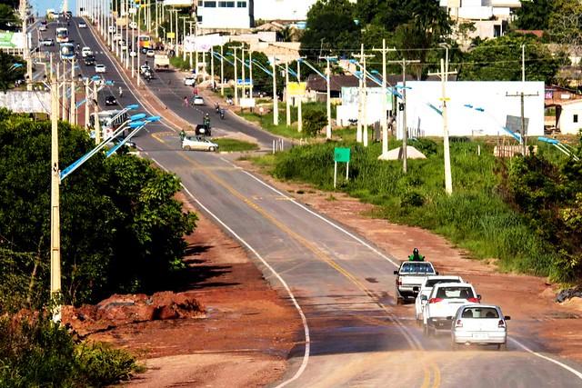 Trecho interditado há 25 dias da avenida Fernando Guilhon é liderado, liberação Fernando Guilhon- foto Júnior Albuquerque -Ascom PMS