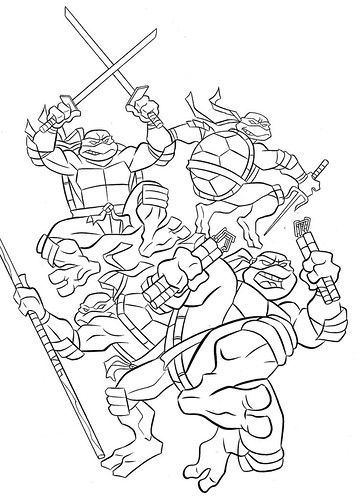 Free Ninja Turtle Coloring Pages And Coloring Pages
