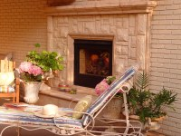 Austin Stone Fireplace | Outdoor living at its finest, Let ...