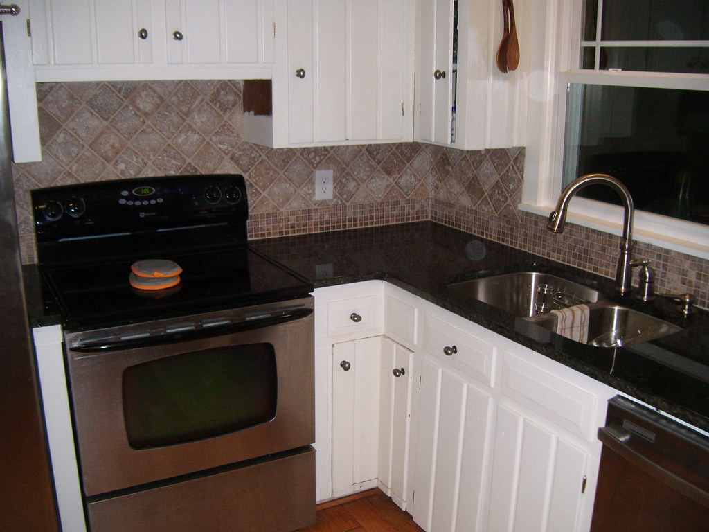 kitchen backsplash photos blonde cabinets tile charlotte | granite countertops ...