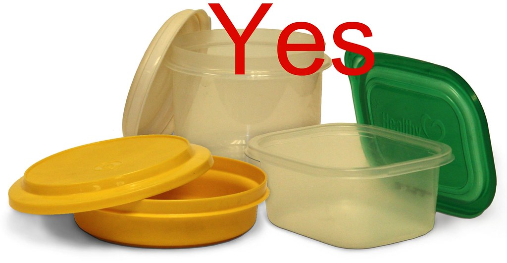 Yes  durable reusable plastic containers and lids  Flickr