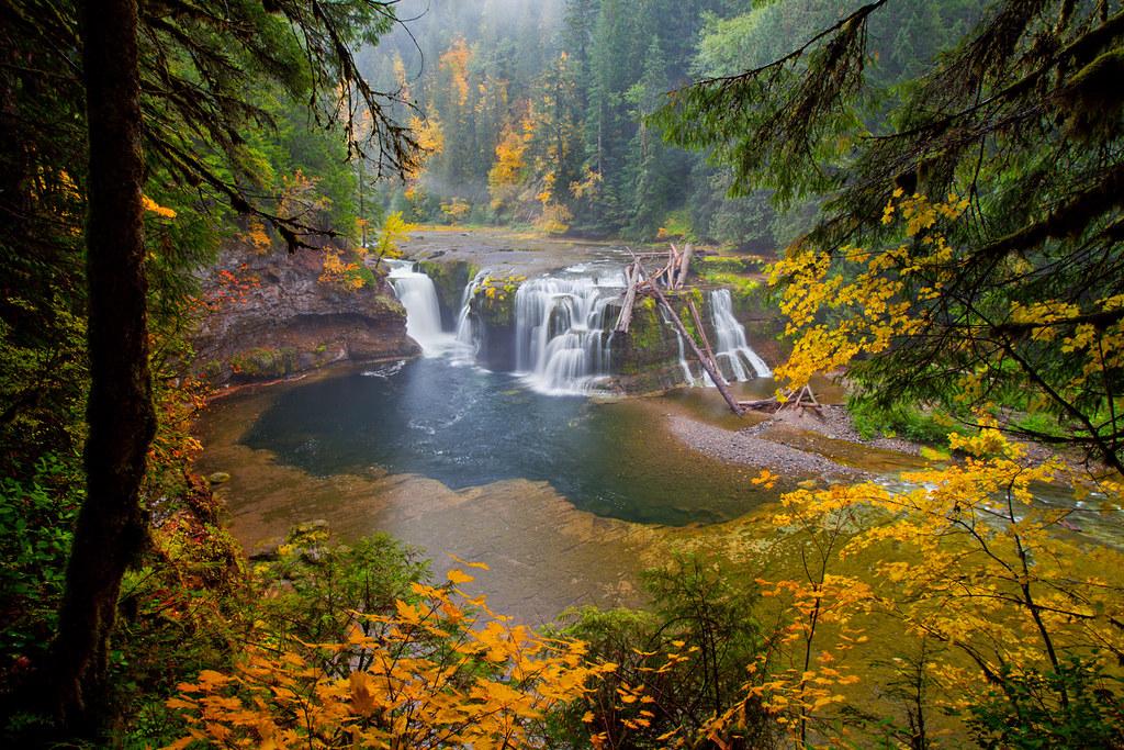 Free Hd Fall Desktop Wallpaper Lower Lewis Falls Took This Shot In Some Serious Rain