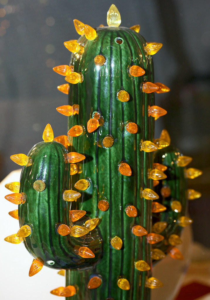 Cactus Ceramic with Lights  Uniquely Arizona This