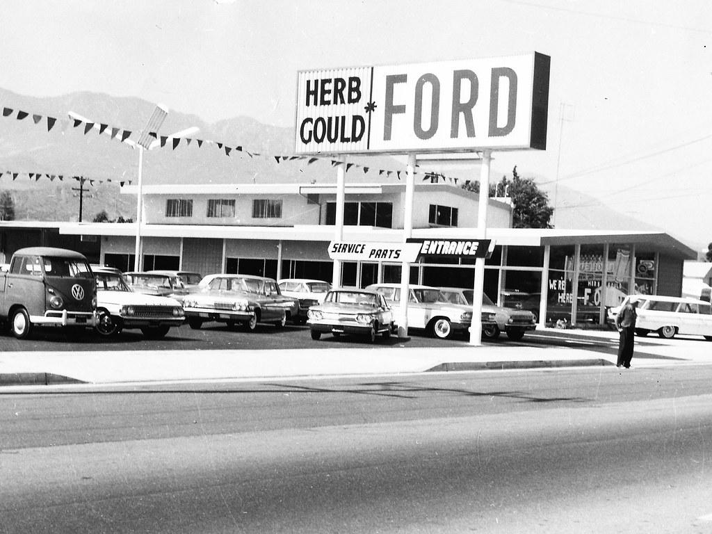 Herb Gould Ford Santa Paula CA 1963  RAPmanthanks