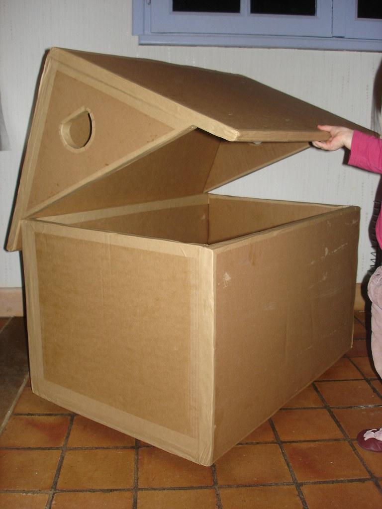 Maison En Carton 1 Jai Fabriqu Une Caisse Jouet Pour