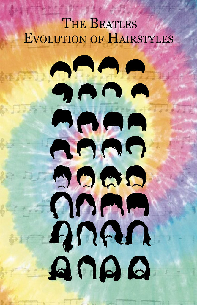 The Beatles Hairstyles  I created this graphics map for