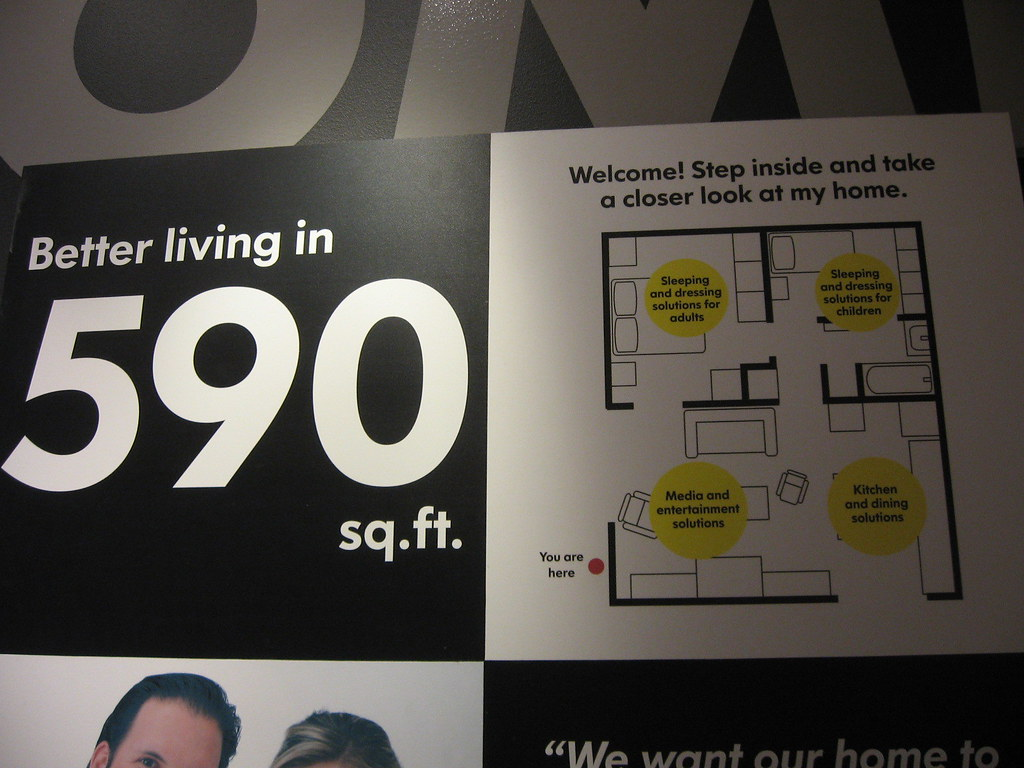 590 sq ft living  Ikea great little home in 590 square