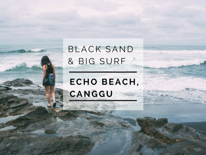 Black sand beach in Bali, Canggu Echo Beach