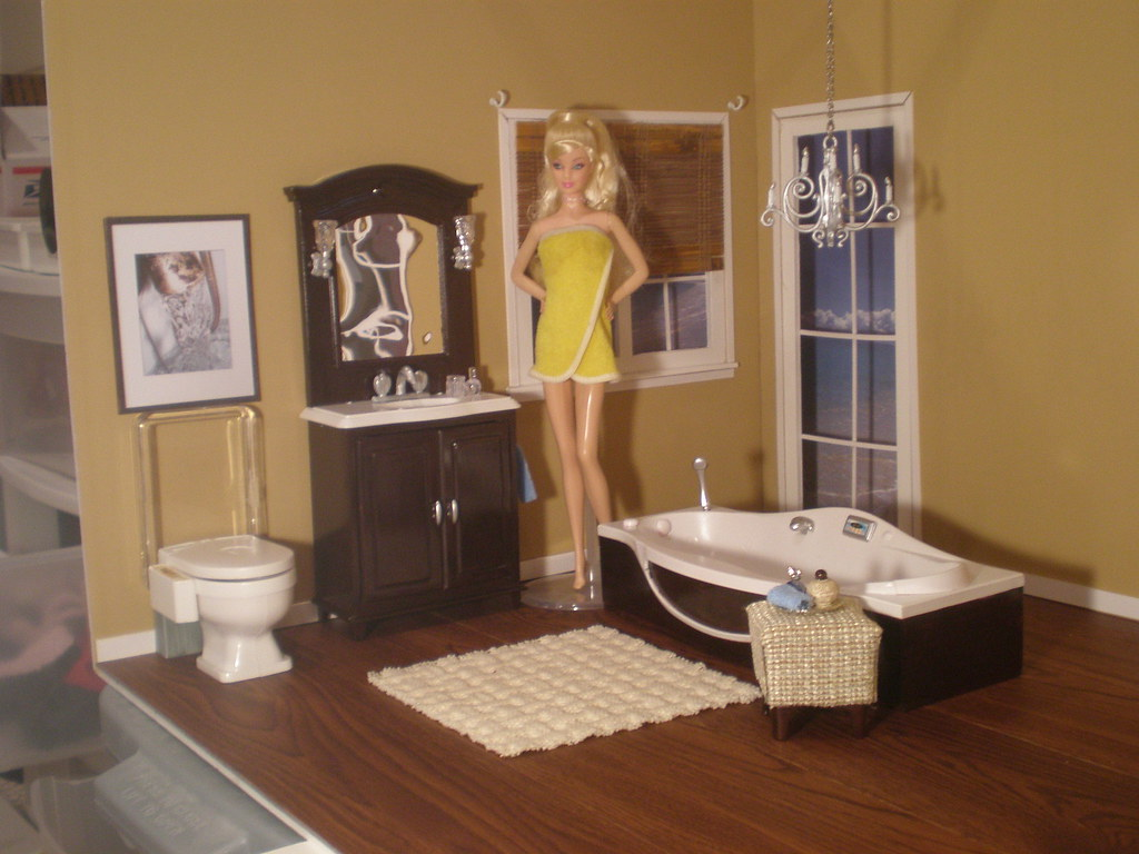 Barbie Bathroom  This set is a one of a kind Gloria set tha  Flickr