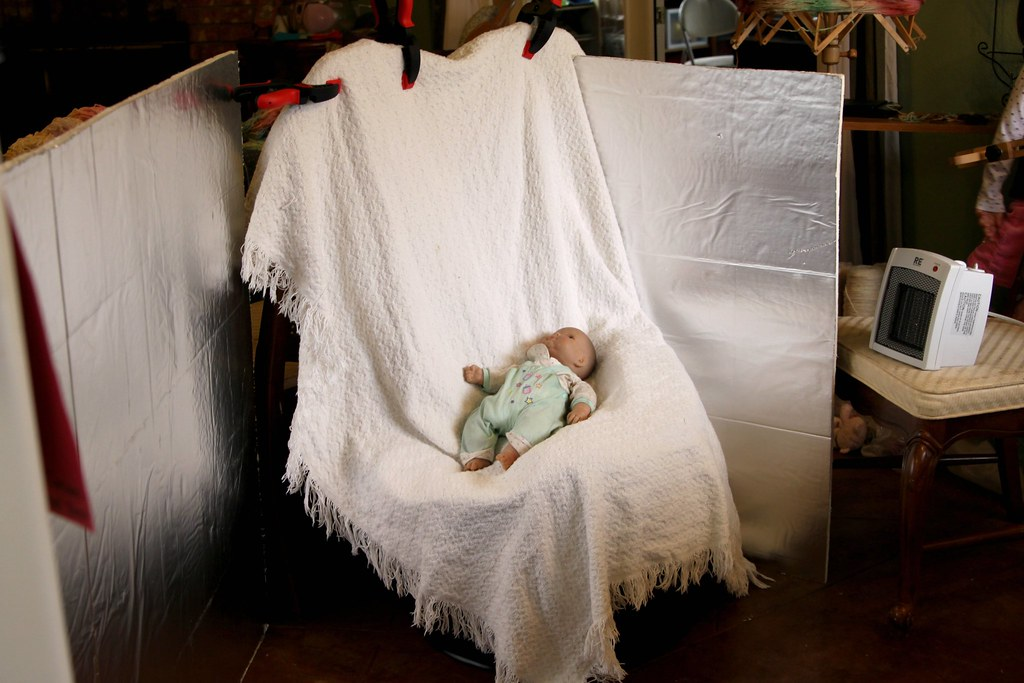 Natural Light setup  for newborn photo shoot Blanket clamp  Flickr