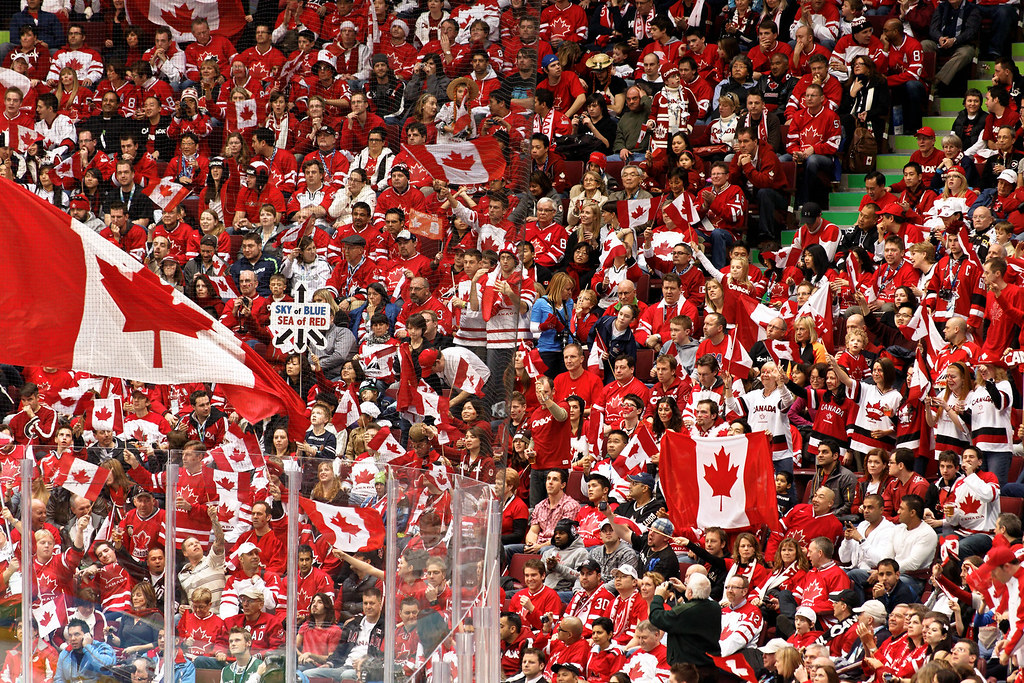 Switzerland vs Canada  Canadian hockey fans are on the