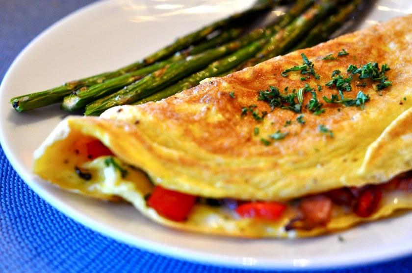 omleta-sursa bogata de proteine animale